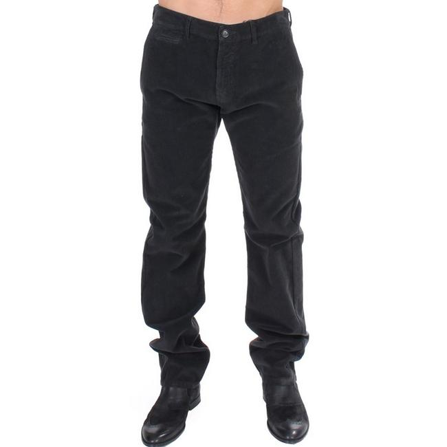 Item - Black D11087-1 Corduroy Cotton Straight Fit Pants (It 48 / M) Groomsman Gift