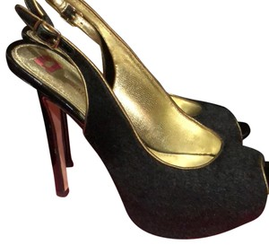 Elaine Turner black Platforms