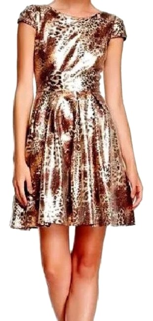 Item - Black and Brown Sequin Mid-length Cocktail Dress Size 6 (S)