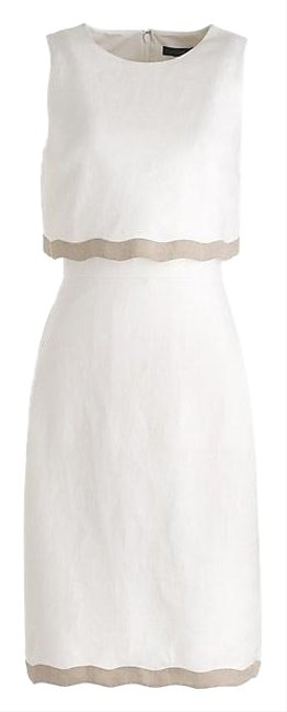 Item - White Going Places Mid-length Work/Office Dress Size 4 (S)