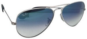 Ray-Ban Ray-Ban Sunglasses RB 3025 LARGE METAL 003/3F 58-14 Silver Aviator w/B