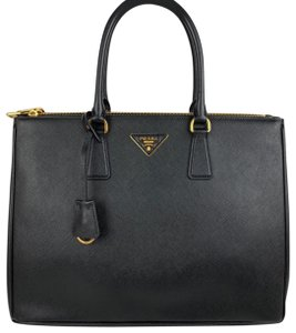 Prada Saffiano Galleria Handbag Tote in Black