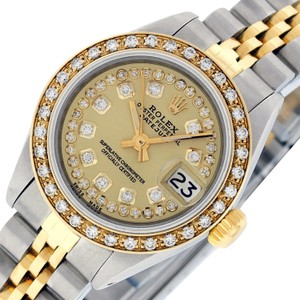 Rolex Rolex Ladies Datejust SS & 18K Yellow Gold with Champagne Diamond Dial