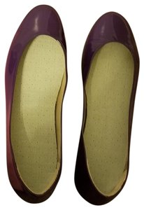 French Sole Patent Purple Flats