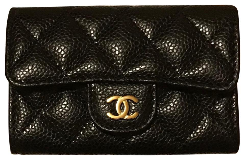 Chanel Rare CHANEL 2018 Caviar Quilted with Gold Hardware Card Holder Wallet  Image 0 ... a9ae137f7df48