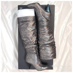 INC International Concepts Pewter Metallic Silver Boots