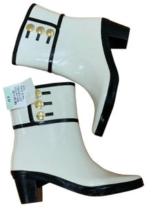 Kate Spade White with Black trims Boots