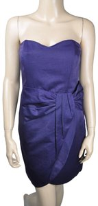 Greylin Strapless Draped Ruched Dress