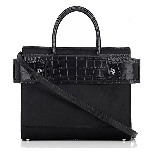 Givenchy Made In Italy Shoulder Calf Hair Crocodile Embossed Luxury Designer Tote in Black Image 5