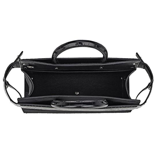 Givenchy Made In Italy Shoulder Calf Hair Crocodile Embossed Luxury Designer Tote in Black Image 6