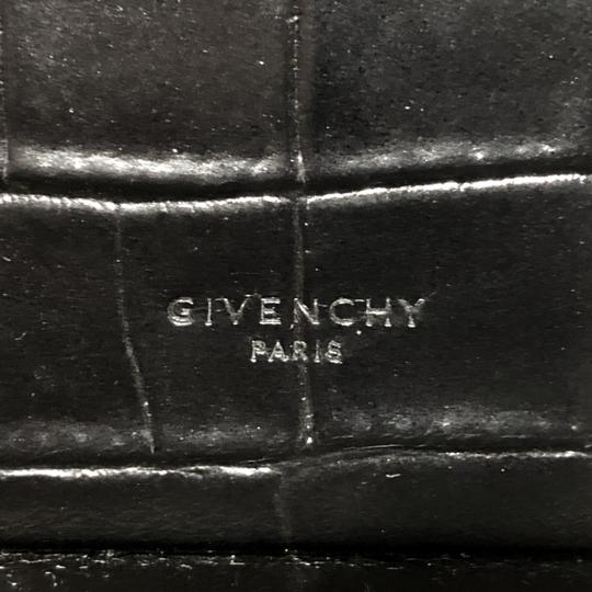 Givenchy Made In Italy Shoulder Calf Hair Crocodile Embossed Luxury Designer Tote in Black Image 8