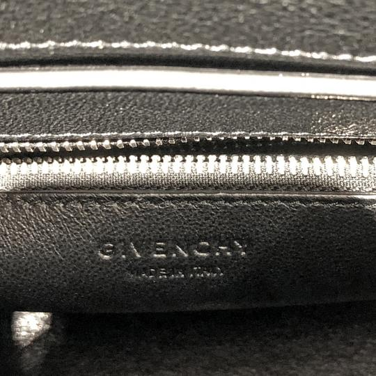 Givenchy Made In Italy Shoulder Calf Hair Crocodile Embossed Luxury Designer Tote in Black Image 9