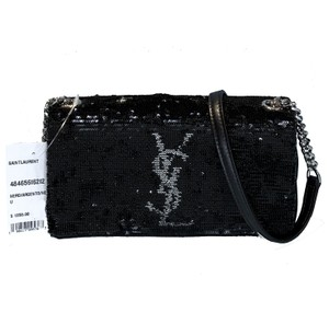 Saint Laurent Made In Italy Luxury Designer Sparkle West Hollywood Monogram Cross Body Bag