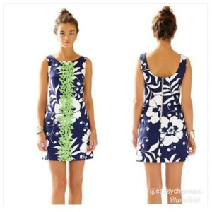 Lilly Pulitzer short dress Navy, White, Lime Green on Tradesy