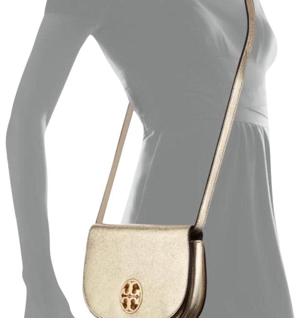 Item - In Condition. Still Inside The It's Plastic with and Label On It Gold Leather Cross Body Bag