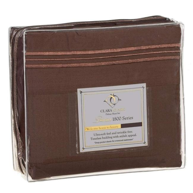Item - Chocolate 1800 (4) Pc Sheet Set (For Wootsy1)