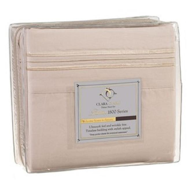 Item - Beige and Burgundy Clark1800 Queen Sheet Set (For Wootsy1) Other