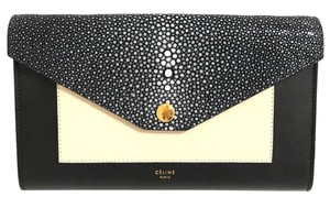 Céline Woc Stingray Wallet On Chain Black Clutch
