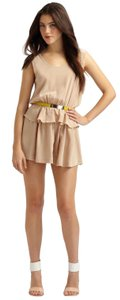 Robert Rodriguez Silky Nude Pockets Dress