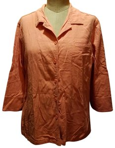 Erin London Button Down Shirt Coral