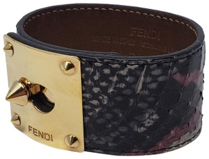 14b1fb707749 Fendi Gold-tone Fendi Goldmine leather wrap bracelet