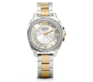 Coach Coach Boyfriend Women's Watch Silver & Gold Stainless Swarovski