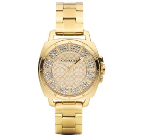 Coach Coach Boyfriend Gold Dial Gold Tone Stainless Steel Women's Watch