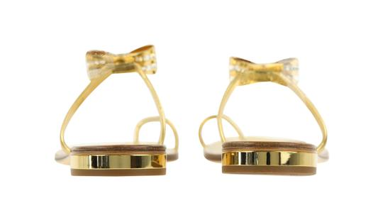 Louis Vuitton Hardware Crystal Bow Lv Metallic Gold Sandals Image 2