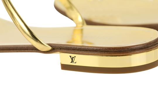 Louis Vuitton Hardware Crystal Bow Lv Metallic Gold Sandals Image 7