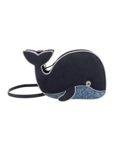Kate Spade Leather Crossbody Whale Navy blue Clutch