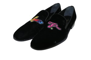 Louis Vuitton Black Embroidered Auteuil Slippers Velvet - 1a3ovd Shoes