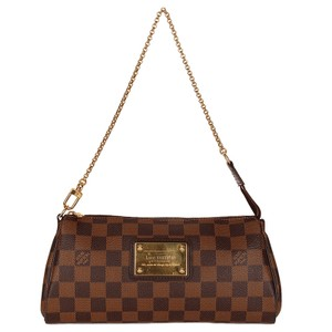 Louis Vuitton Eva Clutches Damier Canvas Cross Body Shoulder Bag