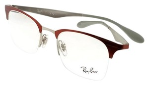 Ray-Ban RX6360-2921-51 Highstreet Unisex Red Frame Clear Lens Eyeglasses
