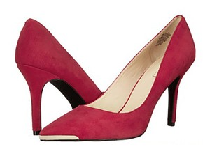 Nine West Pointed Toe Stiletto Red Suede Pumps