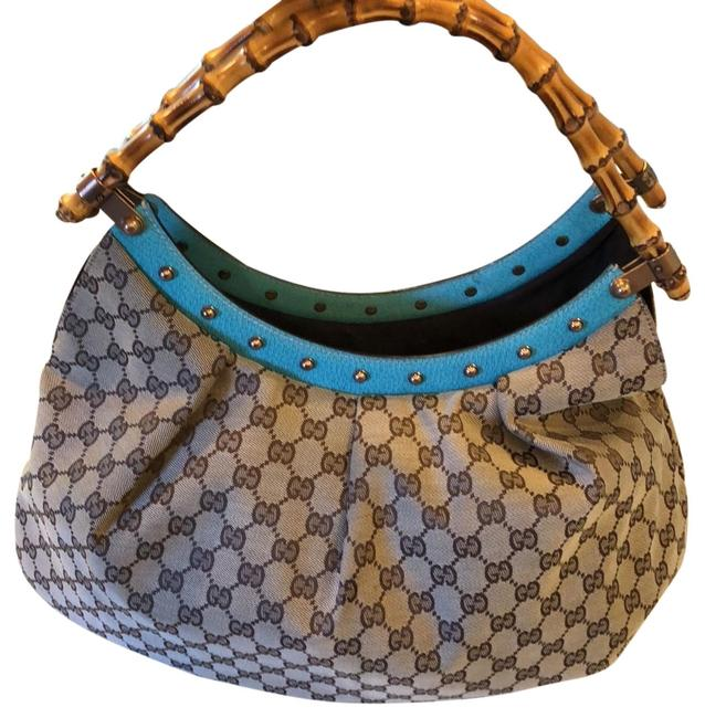 Item - Monogram Brown Cream Aqua Hobo Bag