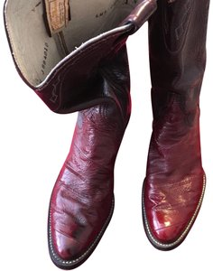 Larry Mahan Dark Red Boots