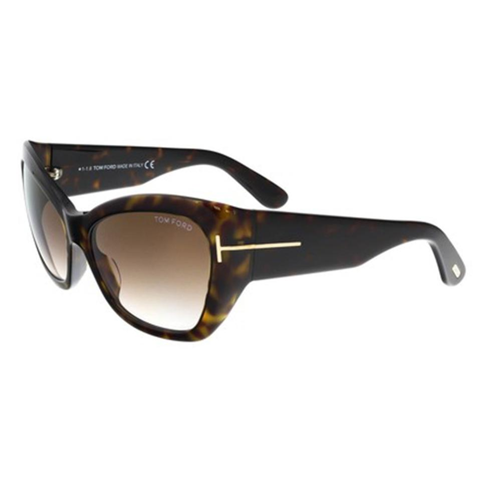 65279fc033c Tom Ford Havana   Brown Women Cat Eye Ft0460s 52g Frame Lens Sunglasses  Image 0 ...