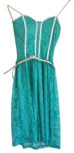 Girl Talk short dress teal on Tradesy