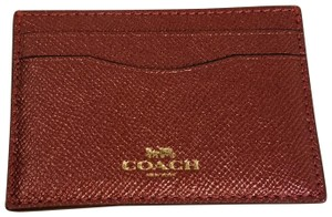 Coach Coach Metallic Cherry Card Case F23339