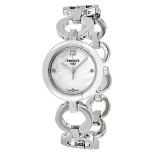 Tissot White Mother of Pearl Dial Ladies Watch