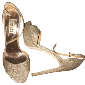 Badgley Mischka silver & gold Platforms