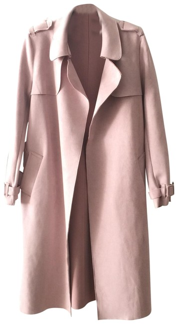 Item - Light Pink Faux Suede Coat Size 0 (XS)