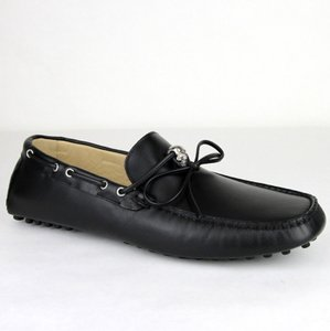 Alexander McQueen Black Men's Leather Loafer with Silver Skull It 39/Us 5.5 389537 Shoes