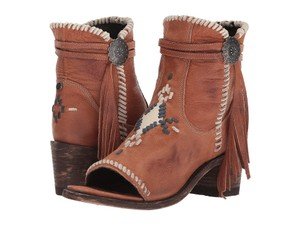 Old Gringo Western Cowboy Open Toe Ankle Brown Boots