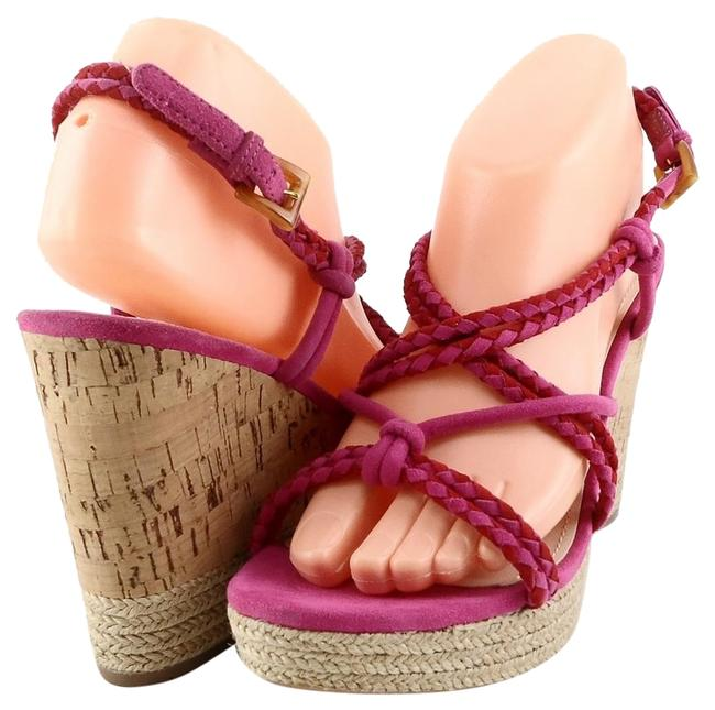 Item - Violet/ Purple Rope Braided Multi-colored Suede Wedges Sandals Size EU 39 (Approx. US 9) Regular (M, B)