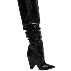 d94c150de Saint Laurent Tan Niki Knee High Boots/Booties Size EU 38 (Approx ...