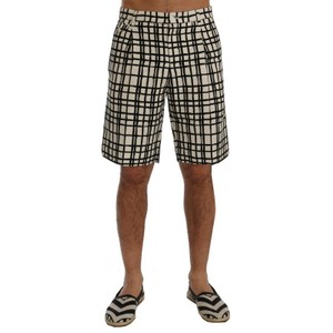 Dolce&Gabbana White / Black D60402-2 Striped Casual Shorts (It 46 / S) Groomsman Gift