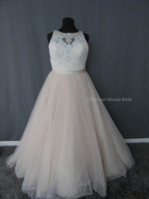 Item - Champagne/Ivory/Silver Lace 3011 Feminine Wedding Dress Size 18 (XL, Plus 0x)