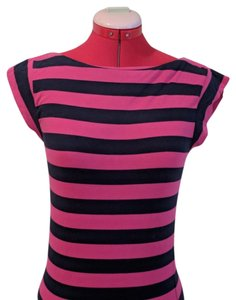 French Connection T Shirt Navy and hot pink