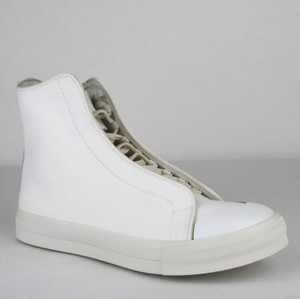 69cf62b73580 Alexander McQueen White Ivory Men s White Ivory Canvas Hi Top Sneaker It 40